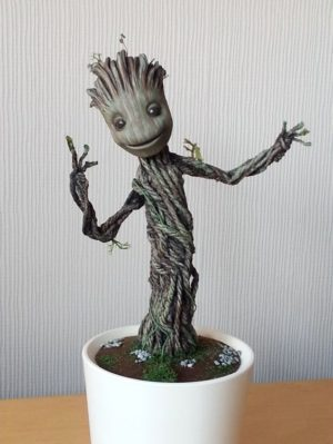 Baby Groot Dancing Sculpture
